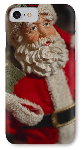 Santa Claus - Antique Ornament - 02 IPhone Case by Jill Reger