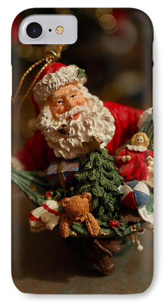 Santa Claus - Antique Ornament - 04 IPhone Case by Jill Reger
