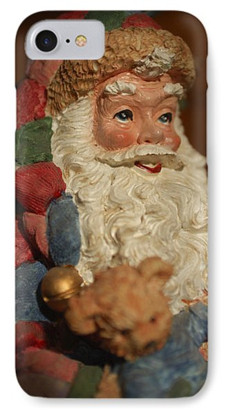 Santa Claus - Antique Ornament - 09 IPhone Case by Jill Reger