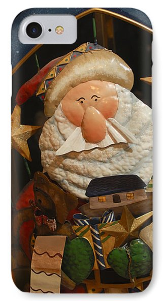 Santa Claus - Antique Ornament - 27 Phone Case by Jill Reger
