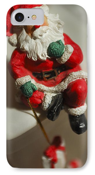 Santa Claus - Antique Ornament - 35 IPhone Case by Jill Reger
