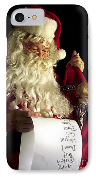 Santa Claus Phone Case by Diane Diederich