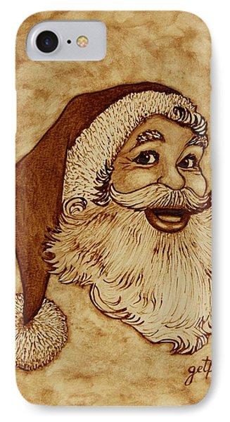 Santa Claus Joyful Face Phone Case by Georgeta  Blanaru