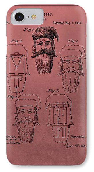 Santa Claus Mask Patent IPhone Case by Dan Sproul