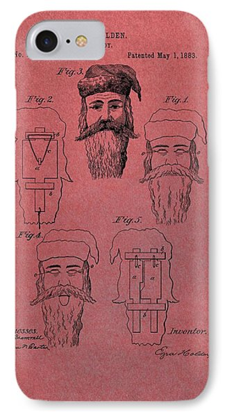 Santa Claus Mask Patent Red IPhone Case by Dan Sproul