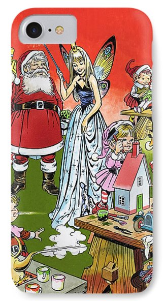 Santa Claus Toy Factory IPhone Case by Jesus Blasco