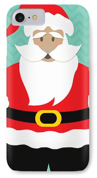 Santa Claus With Medium Skin Tone IPhone Case by Linda Woods