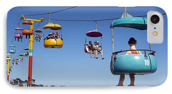 Santa Cruz Beach Amusement Park  IPhone Case by Carol M Highsmith