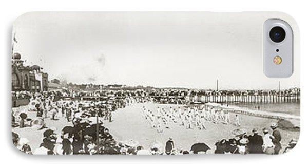 Santa Cruz Beach, C1908 IPhone Case by Granger