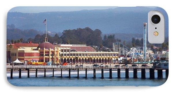 Santa Cruz Boardwalk IPhone Case by Art Block Collections