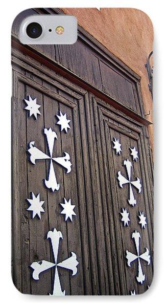 Santa Cruz De La Canada Mission Doors Phone Case by Julie Magers Soulen