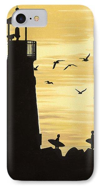 Santa Cruz Lighthouse IPhone Case by Andrew Palmer