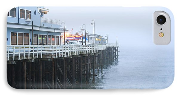 Santa Cruz Pier In The Fog Phone Case by Artist and Photographer Laura Wrede