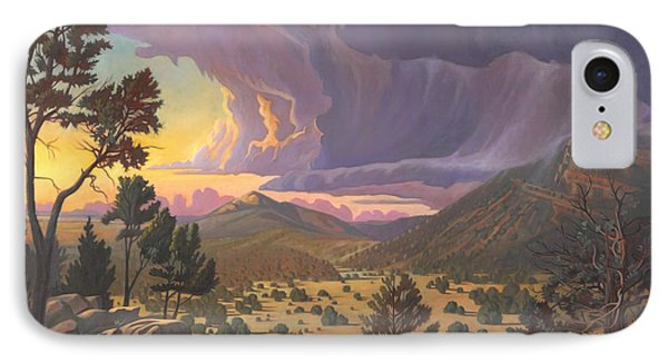 IPhone Case featuring the painting Santa Fe Baldy by Art James West