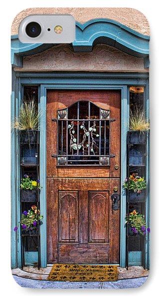 Santa Fe Blue Door IPhone Case by Sylvia Thornton