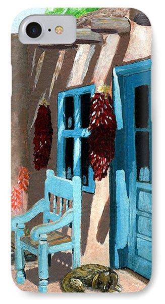 Santa Fe Courtyard IPhone Case by Karyn Robinson