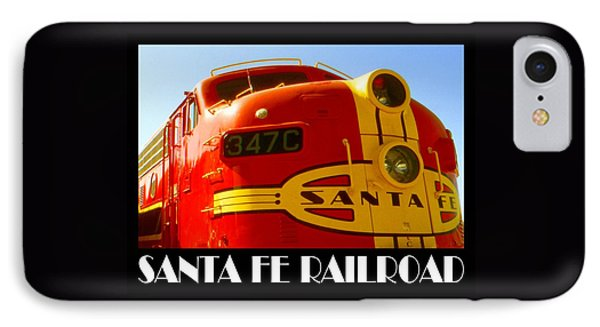 Santa Fe Railroad Color Poster IPhone Case by Art America Gallery Peter Potter