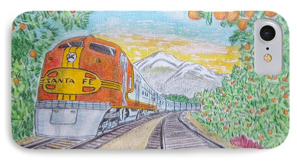 Santa Fe Super Chief Train IPhone Case by Kathy Marrs Chandler