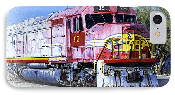 IPhone Case featuring the photograph Santa Fe Train No-95 by William Havle