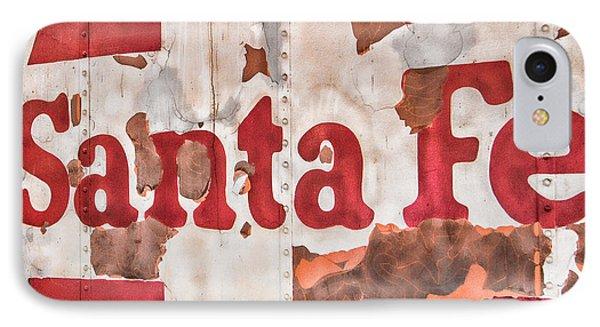 Santa Fe Vintage Railroad Sign IPhone Case by Steven Bateson