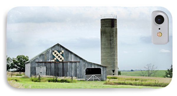 Santa Fe Wagon Tracks Quilt Barn IPhone Case by Cricket Hackmann