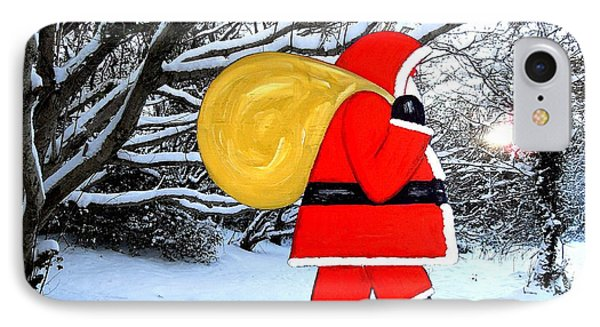 Santa In Winter Wonderland Phone Case by Patrick J Murphy