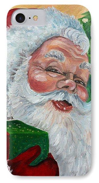 Santa IPhone Case by Julie Brugh Riffey