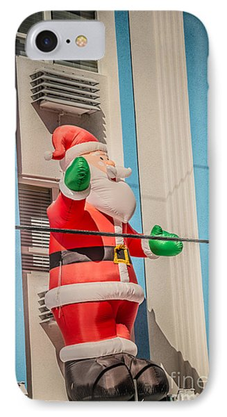 Santa Key West Style - Hdr Style IPhone Case by Ian Monk