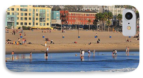 Santa Monica Beach  IPhone Case by Lynn Bauer