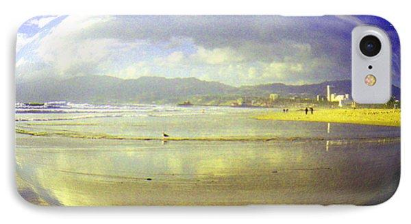 Santa Monica Beach Phone Case by Jerome Stumphauzer
