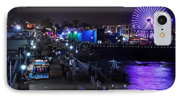 IPhone Case featuring the digital art Santa Monica Pier 5 by Gandz Photography