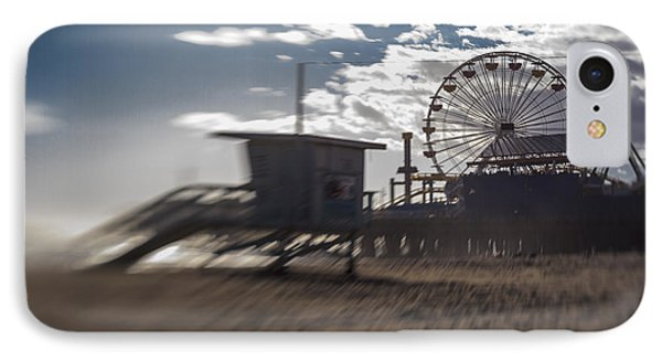 End Of The Day Or Times At Santa Monica Pier IPhone Case