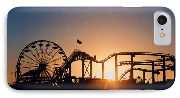 Santa Monica Pier IPhone Case by Art Block Collections