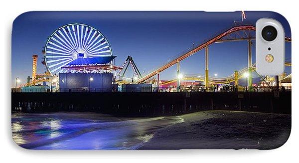 Santa Monica Pier At Night IPhone Case
