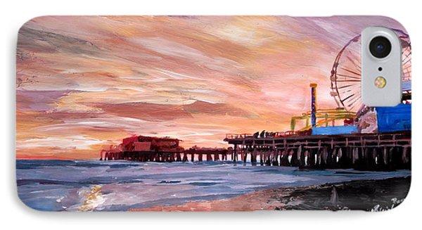 Santa Monica Pier At Sunset IPhone 7 Case