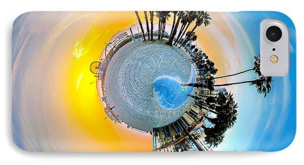 Santa Monica Pier Circagraph IPhone Case by Az Jackson
