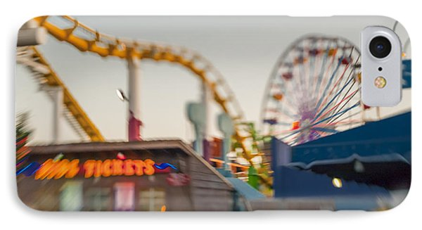 Santa Monica Pier Ride Entrance IPhone Case by Scott Campbell