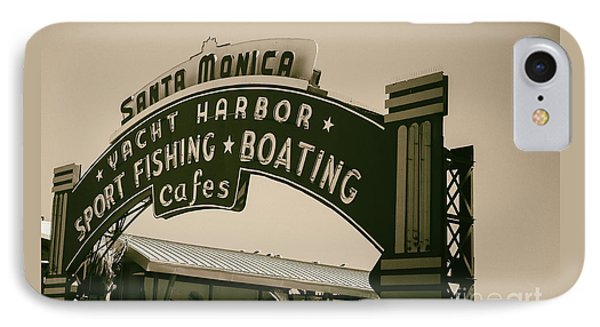 Santa Monica Pier Sign IPhone Case