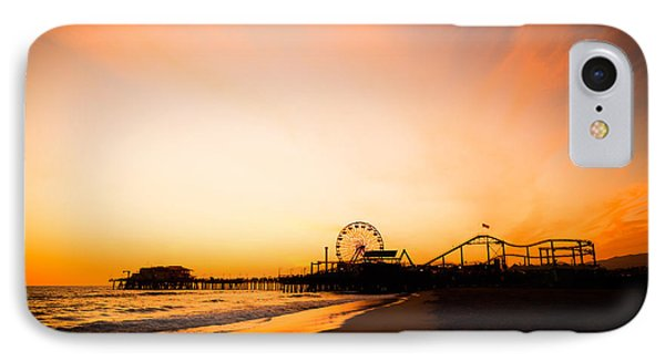 Santa Monica Pier Sunset Southern California IPhone 7 Case by Paul Velgos