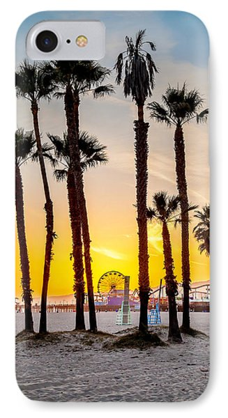 Santa Monica Sunset 2 IPhone Case by Az Jackson