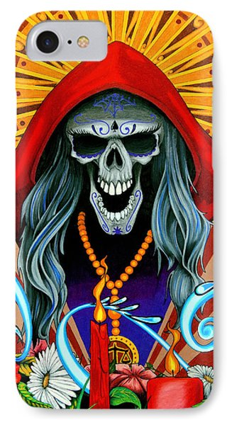 Santa Muerte IPhone Case by Steve Hartwell