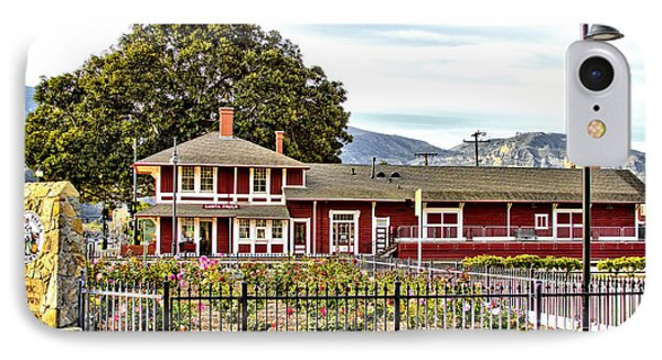 IPhone Case featuring the photograph Santa Paula Train Station by Jason Abando
