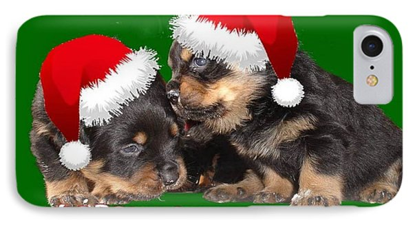 Santa Paws Is Coming To Town Christmas Greeting Phone Case by Tracey Harrington-Simpson