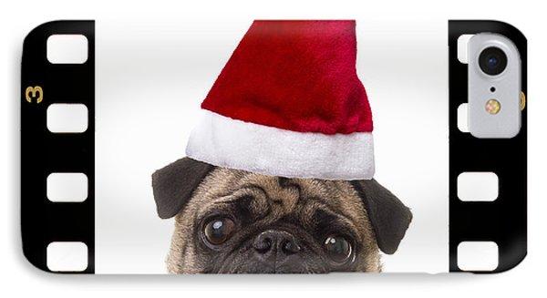 Santa Pug - Canine Christmas Phone Case by Edward Fielding