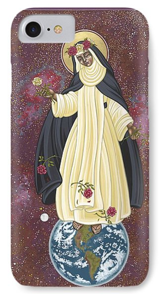 IPhone Case featuring the painting Santa Rosa Patroness Of The Americas 166 by William Hart McNichols