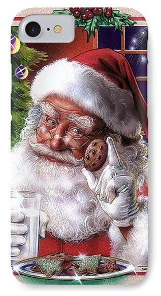Santa IPhone Case by Timothy Scoggins