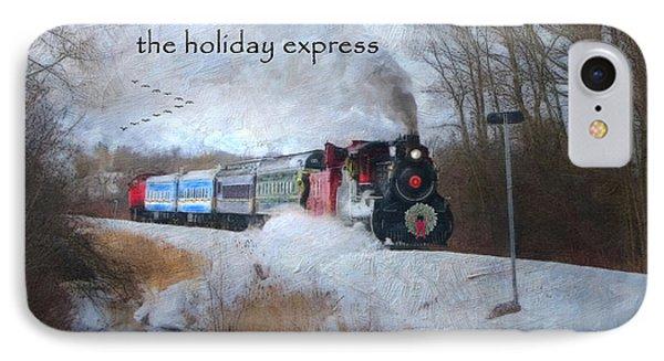 IPhone Case featuring the digital art Santa Train - Waterloo Central Railway by Lianne Schneider