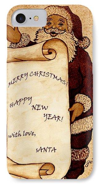 Santa Wishes Digital Art Phone Case by Georgeta  Blanaru