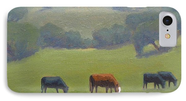 IPhone Case featuring the painting Santa Ynez Cows by Jennifer Boswell