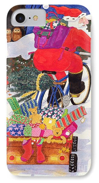 Santas Bike IPhone Case by Linda Benton